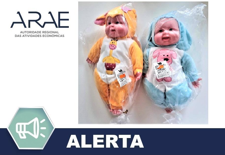 """Alerta ARAE – Brinquedo - """"Boneca - Bebé"""""""