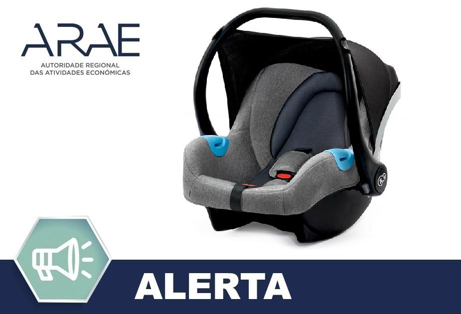 "Alerta ARAE – Acessório para Automóveis – Cadeira Auto ""Kinderkraft"""