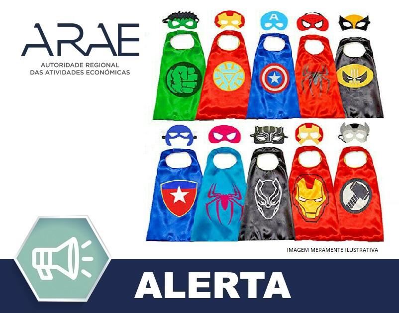 """Alerta ARAE – Brinquedo – Capa de fantasia """"Laegendary"""""""