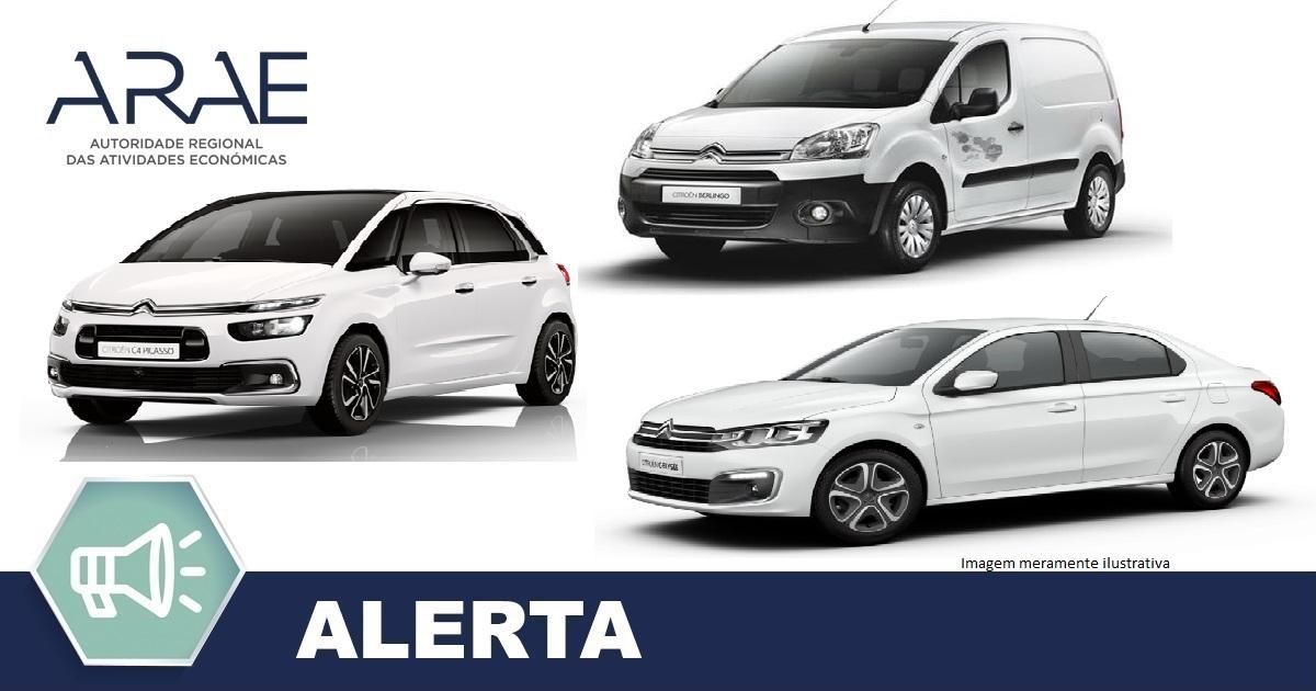 Alerta- Citroen modelos: C-Elyseé, C4 Picasso e Berling