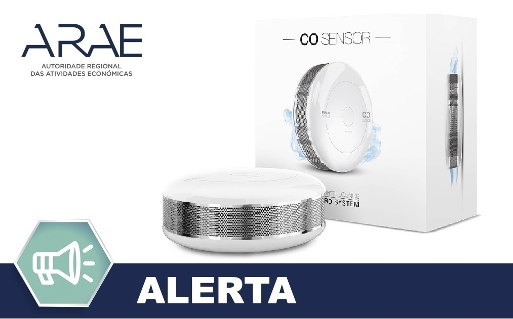Alerta ARAE – Detetor de Monóxido de Carbono