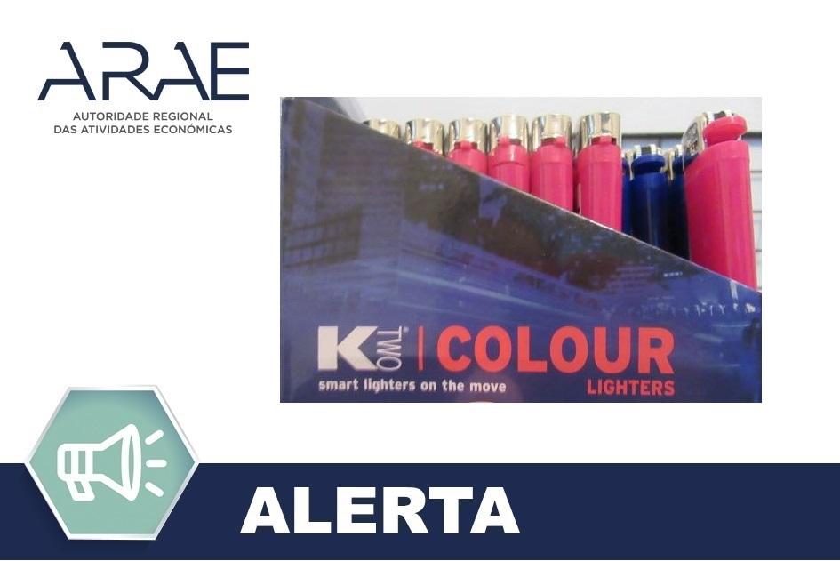 Alerta ARAE – Isqueiro da marca Ktwo