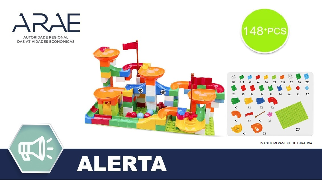 "Alerta ARAE – Brinquedo – Marble Run ""Kitoz Toys"""