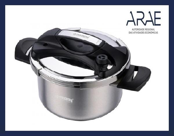 """Alerta ARAE – Acessório de Cozinha – Panela de Pressão em aço inoxidável """"HERZBERG – HG-PS8"""""""