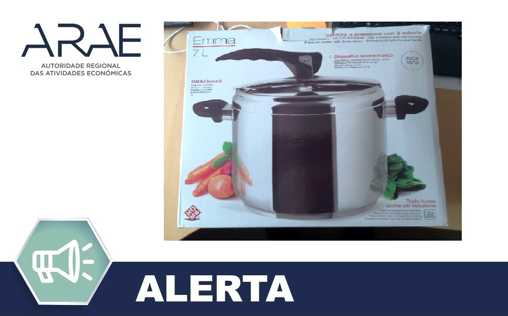 """Alerta ARAE – Acessório de Cozinha – Panela de Pressão """"HO ME"""""""