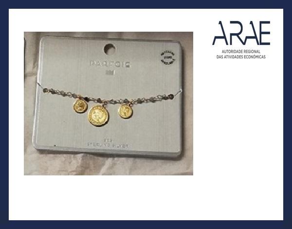 Alerta ARAE – Artigo de joalharia - Bracelete de Prata 925 da marca Parfois