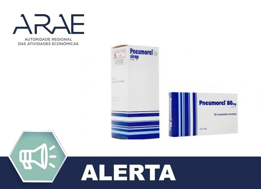 Retirada do mercado dos medicamentos Pneumorel e Pneumorel retard