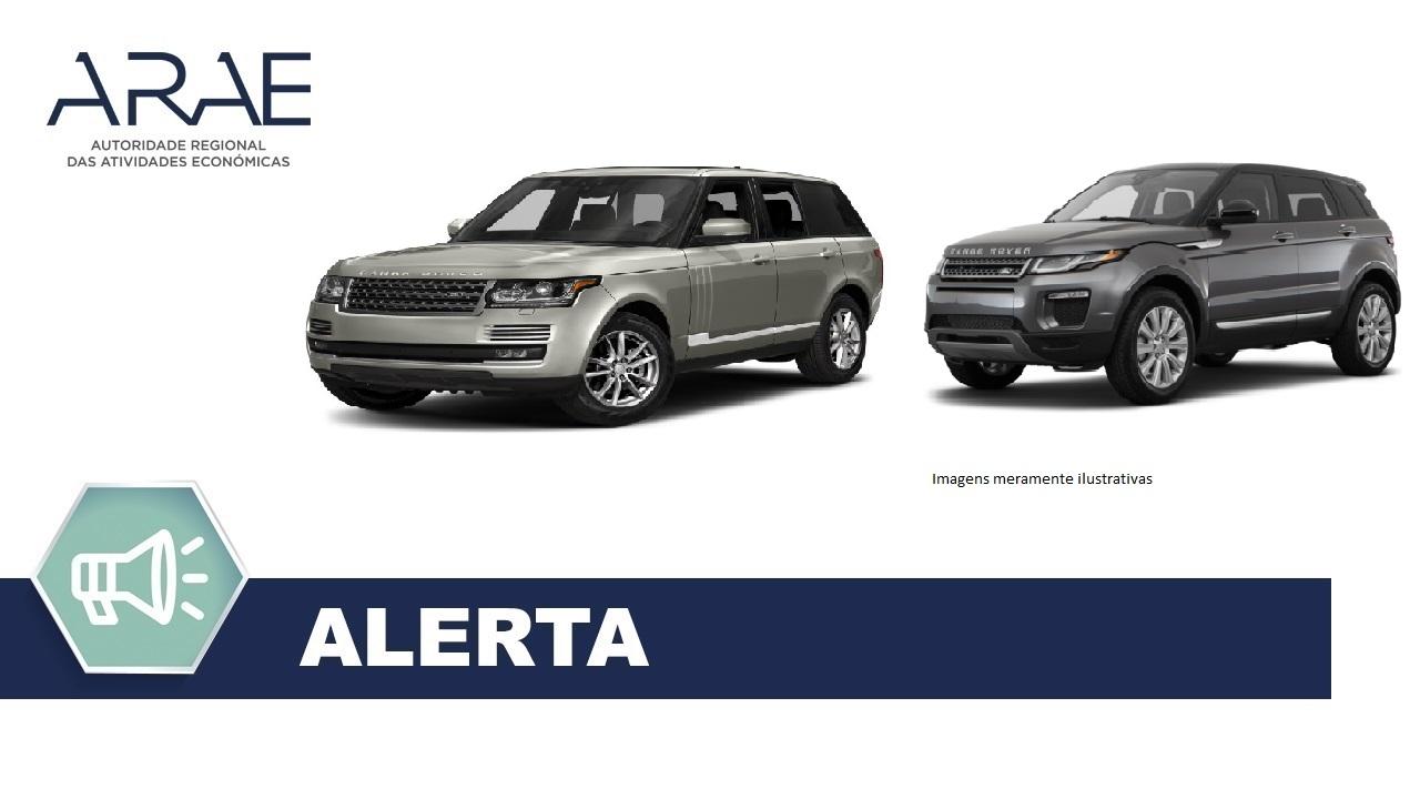 Alerta - Veiculos Range Rover, Discovery e Evoque