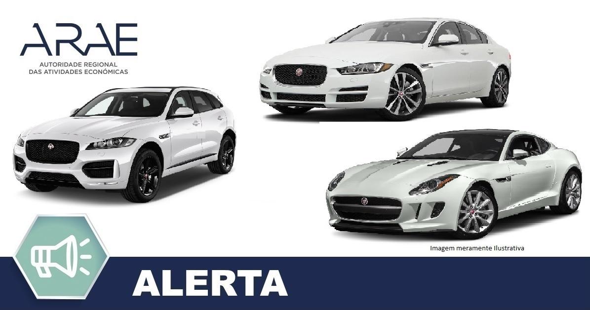 Alerta - Jaguar modelos XE; XF; E-PACE; F-PACE; F-TYPE
