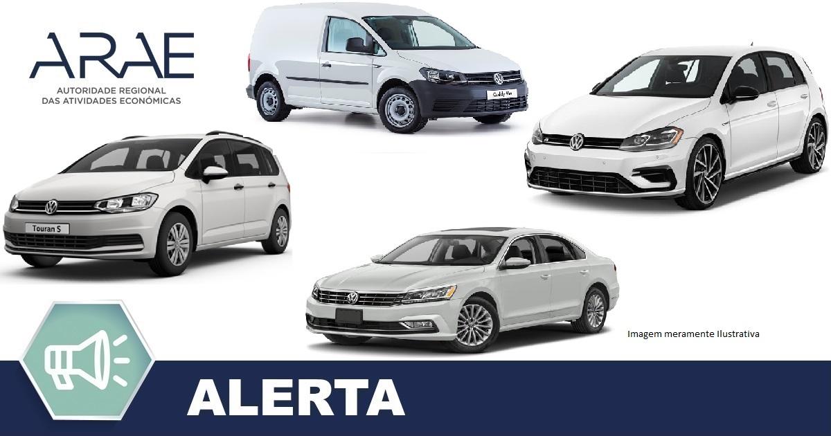 Alerta - Volkswagen modelos: Caddy, Golf, Passat e Touran