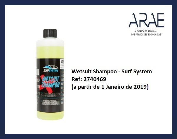 Alerta ARAE – Recolha Produto Wetsuit shampoo – Surf System (ref: 2740469)