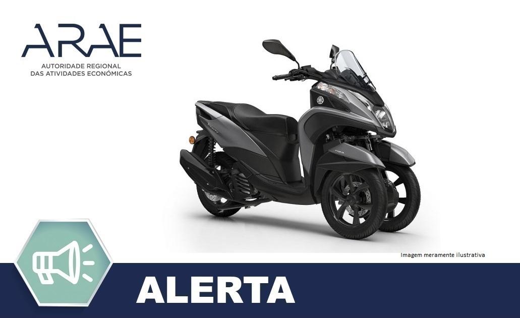 Alerta ARAE – Veículos Motorizados YAMAHA