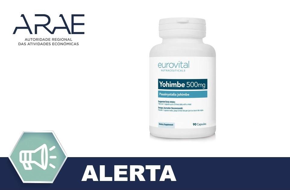 Produto ilegal - Yohimbe 500 mg