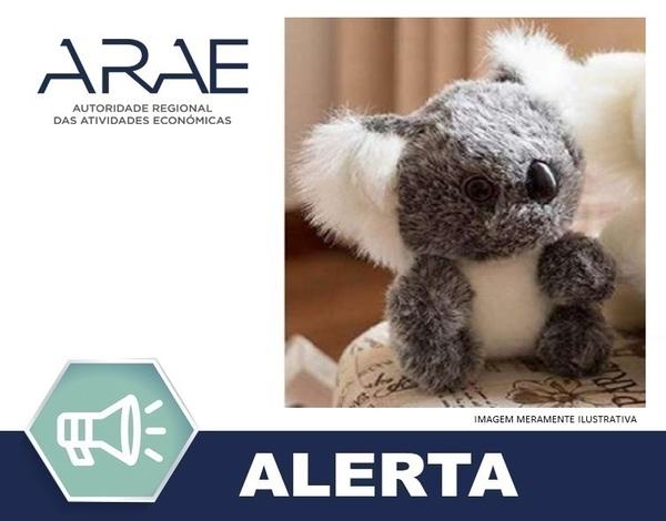 """Alerta ARAE – Brinquedo - """"Coala de peluche"""""""