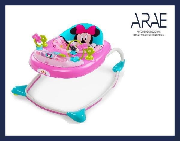 """Alerta ARAE – Artigo de puericultura e equipamento infantil - """"Andarilho da Disney para bebés"""""""