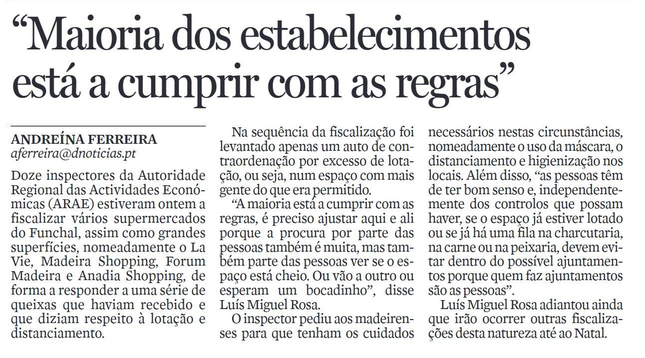in Diário de Notícias da Madeira, edição de 13/12/2020