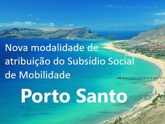 Subsídio de Mobilidade Porto Santo