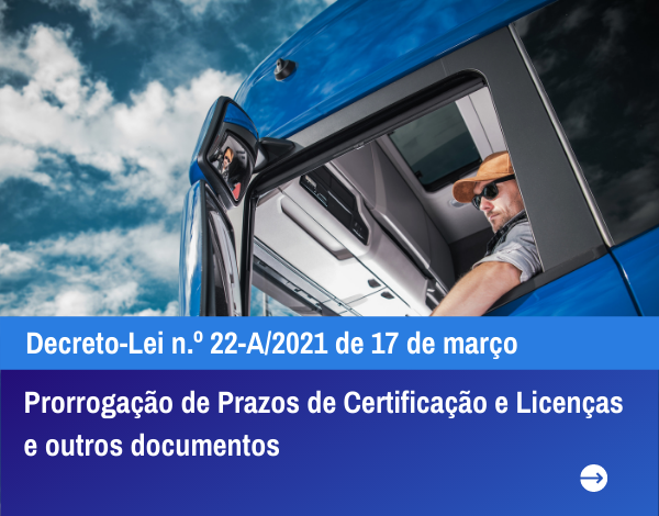 Prorrogação de Prazos de Certificação e Licenças e outros documentos