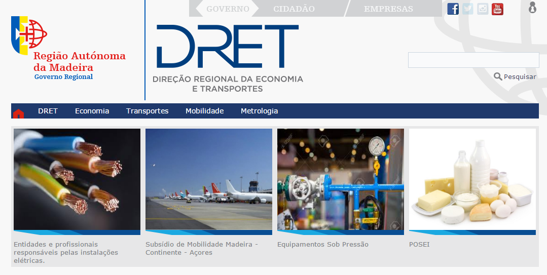 Novo site DRET