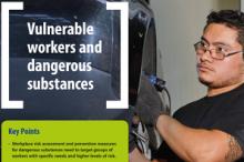 A nova ficha informativa da EU-OSHA sobre os trabalhadores vulneráveis e as substâncias perigosas