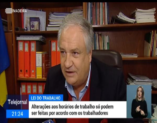 Entrevista ao Dr. Savino Correia - RTP Madeira - Horários de trabalho geram queixas