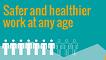 Ferramenta de visualização de dados sobre trabalho mais seguro e saudável em qualquer idade.