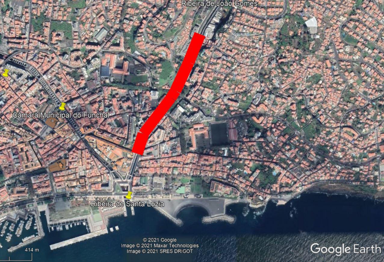 POSEUR-02-1810-FC-000467 - Reconstrução e Regularização da Ribeira de Santa Luzia no troço entre o Km 0 + 195,38 e o Km 0 + 386,38