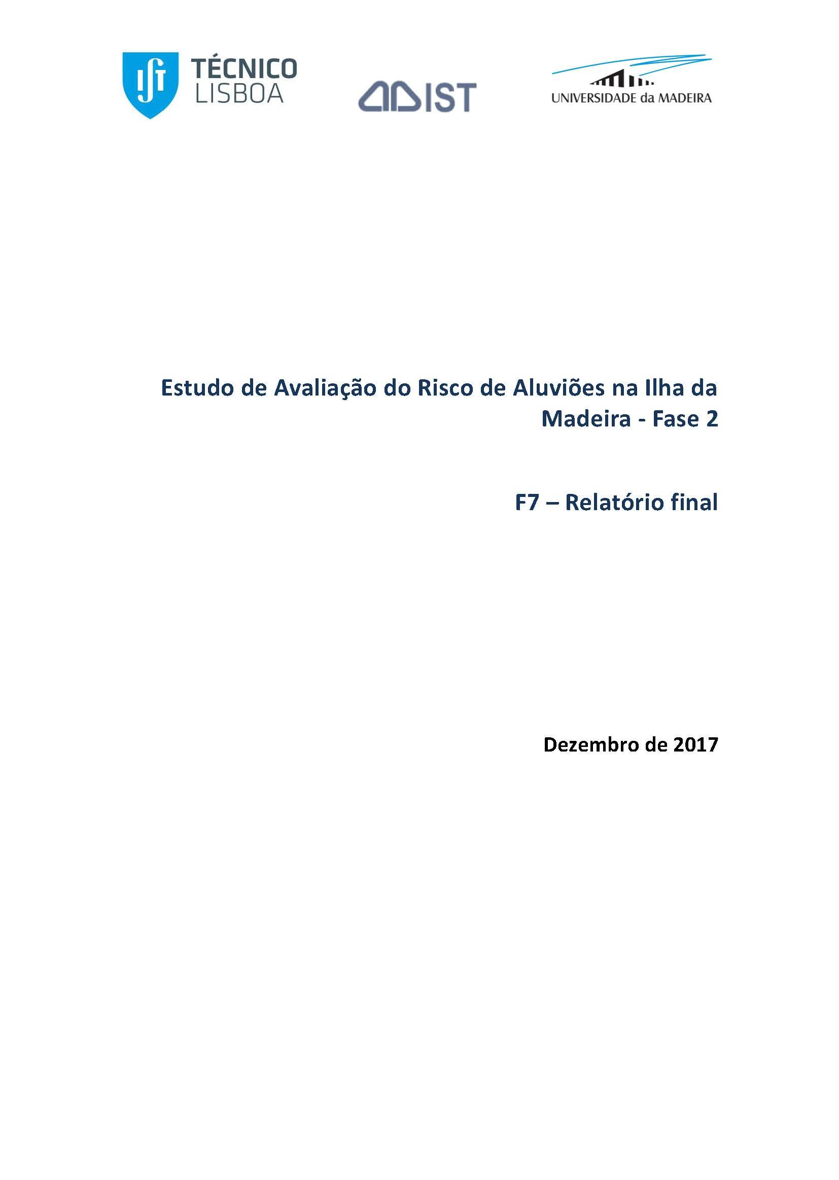 2ª Fase do Estudo de Avaliação do Risco de Aluviões na Ilha da Madeira (EARAM2)