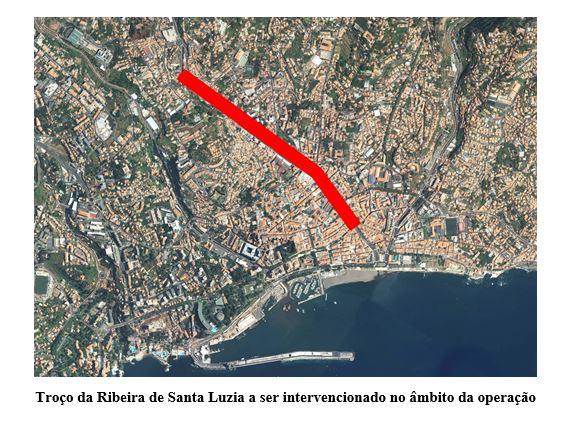 POSEUR-02-1810-FC-000004 - Reabilitação e Regularização da Ribeira de Santa Luzia – Troço urbano, km 0+386 ao km 1+860