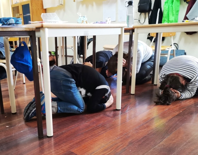 Atividade 'A Terra Treme' nas escolas da Região