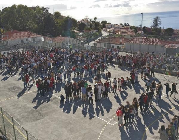 Exercício de evacuação na EBS Dr. Ângelo Augusto da Silva