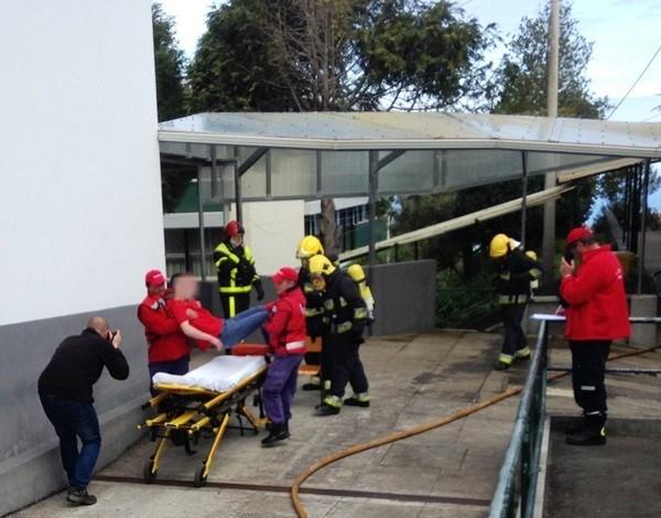 Simulacro de fogo em Escola de Santana