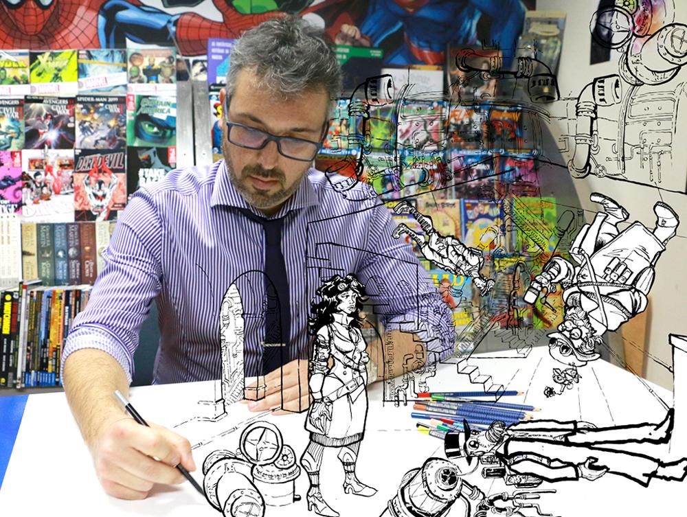 40 anos da EBS da Ponta do Sol, banda desenhada na primeira pessoa & explicador sobre desenho com profundidade