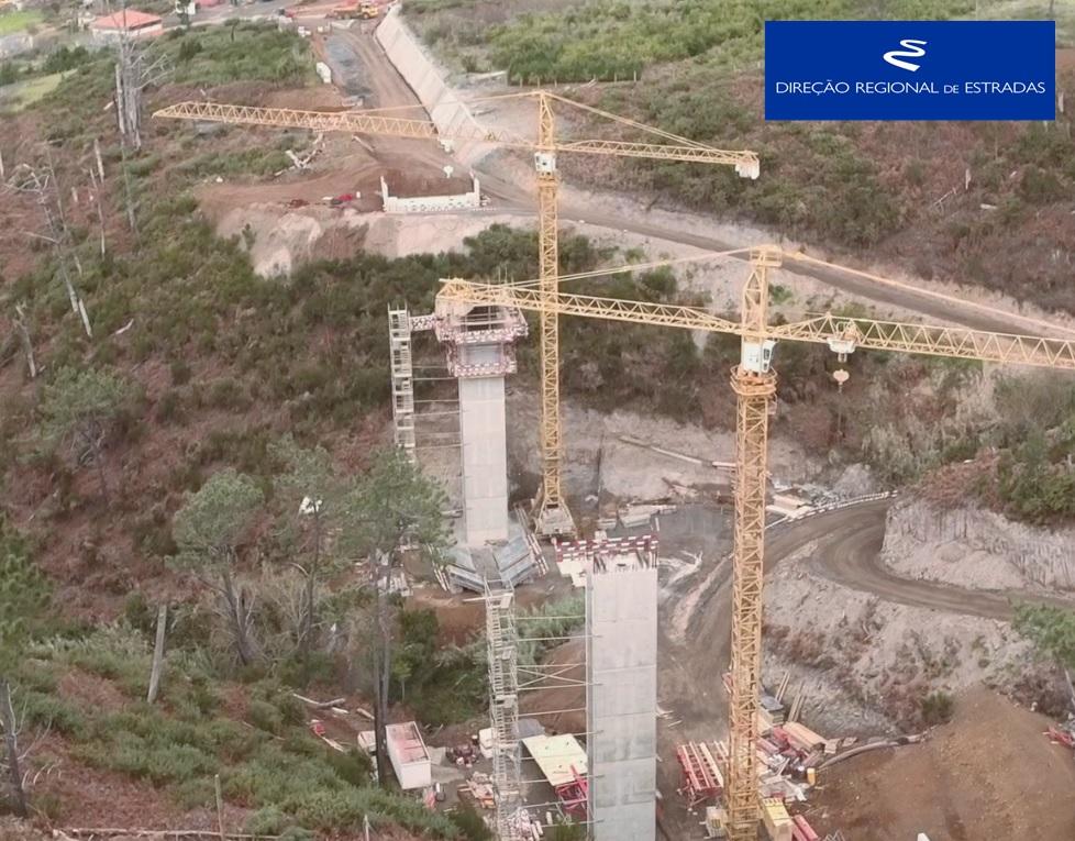 """Empreitada de Construção da """"Via Expresso Fajã da Ovelha / Ponta do Pargo - 2.ª Fase"""" …evolução dos trabalhos - Dez/2019"""