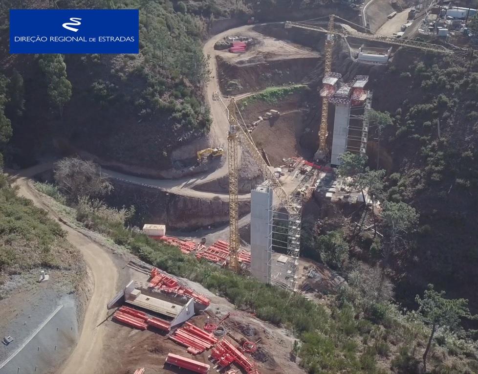 """Empreitada de Construção da """"Via Expresso Fajã da Ovelha / Ponta do Pargo - 2.ª Fase"""" …evolução dos trabalhos - Jan/2020"""
