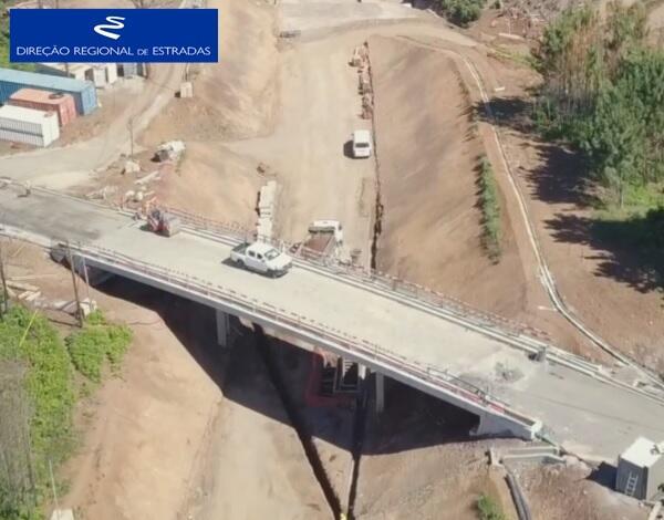 """Empreitada de Construção da """"Via Expresso Fajã da Ovelha / Ponta do Pargo - 2.ª Fase"""" …evolução dos trabalhos - Mai/2020"""