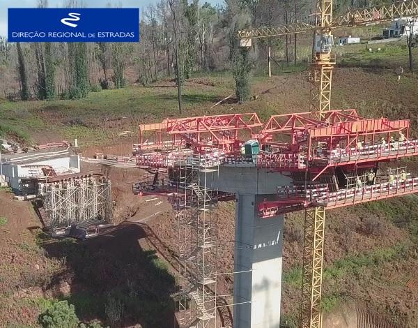 """Empreitada de Construção da """"Via Expresso Fajã da Ovelha / Ponta do Pargo - 2.ª Fase"""" …evolução dos trabalhos - Nov/2020"""