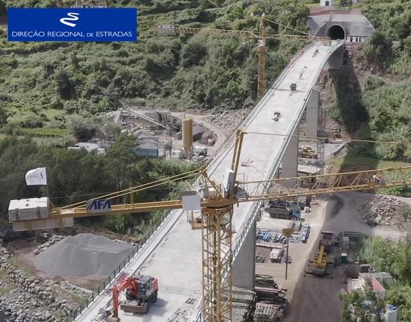 """Empreitada de Construção da """"Via Expresso Ribeira de São Jorge / Arco de São Jorge - 2.ª Fase"""" …evolução dos trabalhos - Jul/2021"""