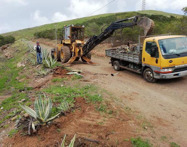 Limpeza realizada no sítio dos Morenos no Porto Santo