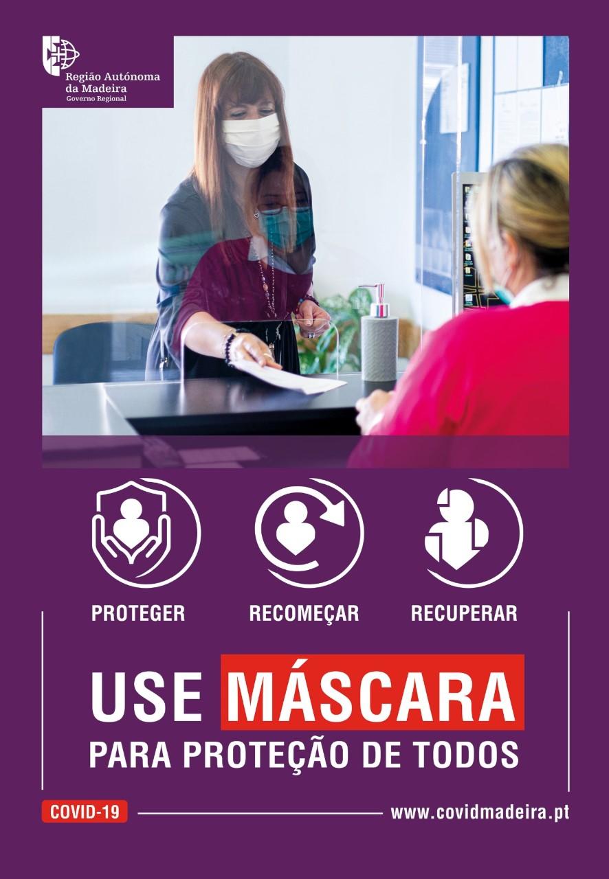 Use Máscara para Protecção de Todos