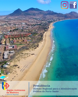 Geossitio PSt01 - Praia de Porto Santo, por Helder Afonso - Mupi