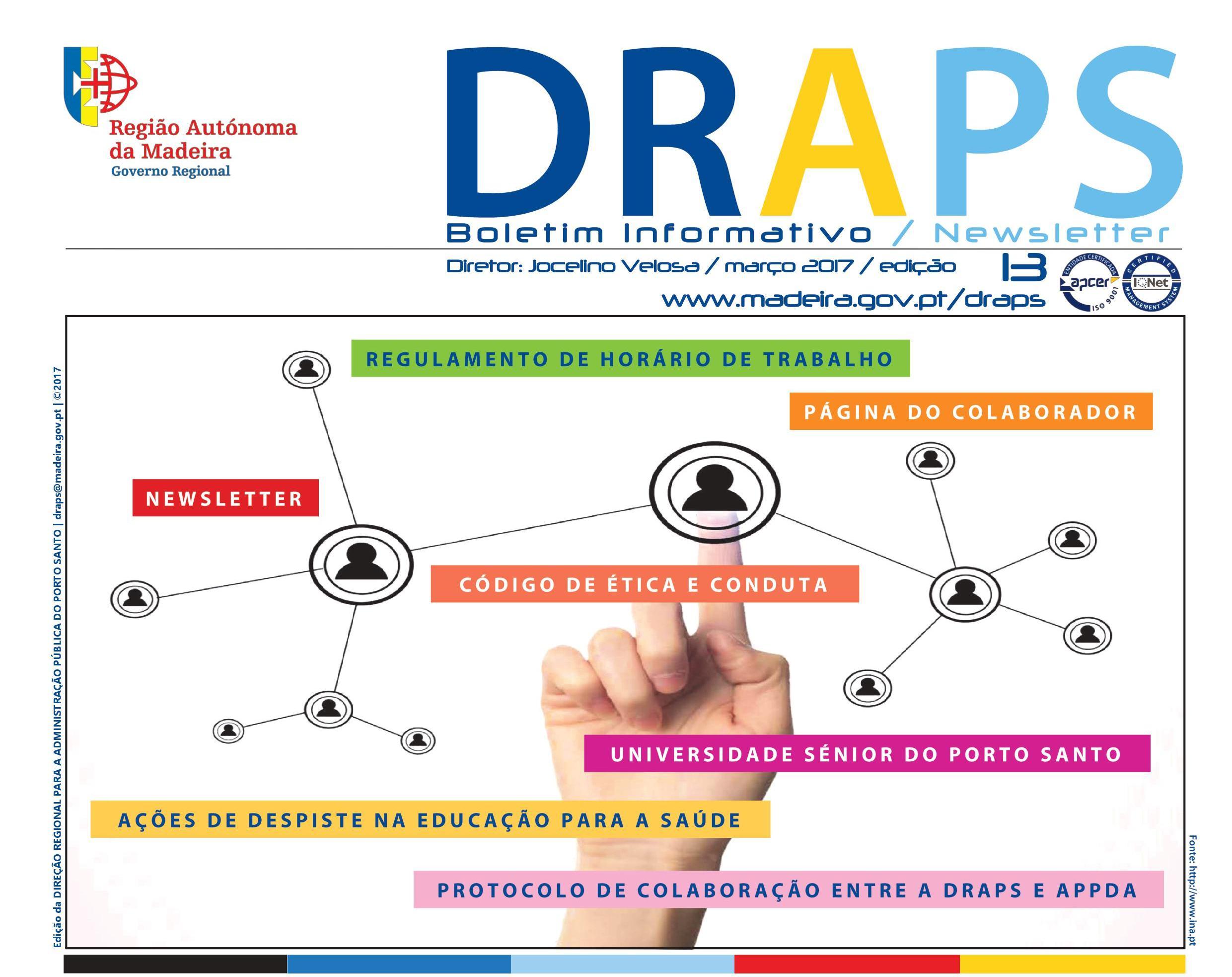 Newsletter n.º 13 | Março 2017 | draps_gov