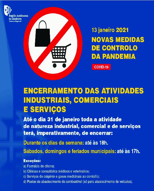 Encerramento das Atividades Industriais, Comerciais e Serviços