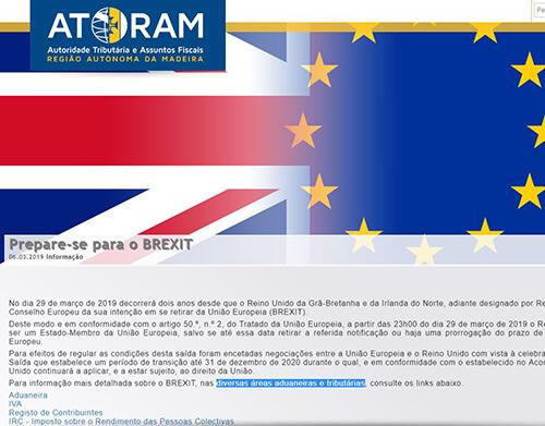 Informações da AT-RAM sobre o Brexit