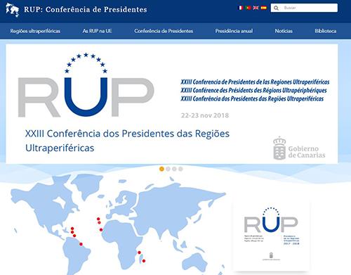Novo site da Conferência dos Presidentes das RUP