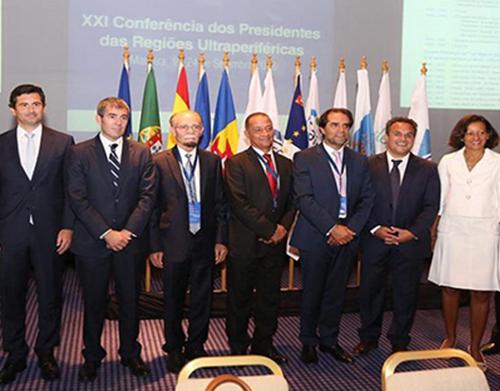 Albuquerque na Conferência dos Presidentes RUP com Macron e Juncker