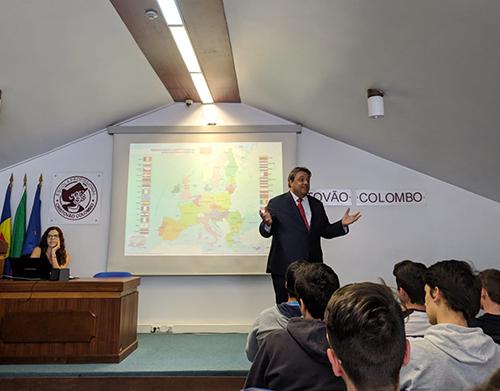 Debate sobre o Futuro da Europa na Cristóvão Colombo