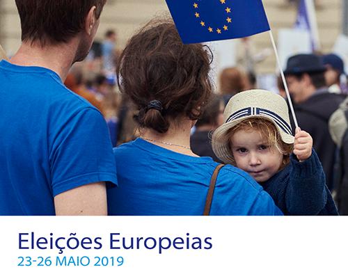 Página de incentivo ao voto nas Eleições Europeias
