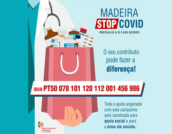 """""""MADEIRA – STOP COVID"""" já arrecadou perto de 150 mil euros"""