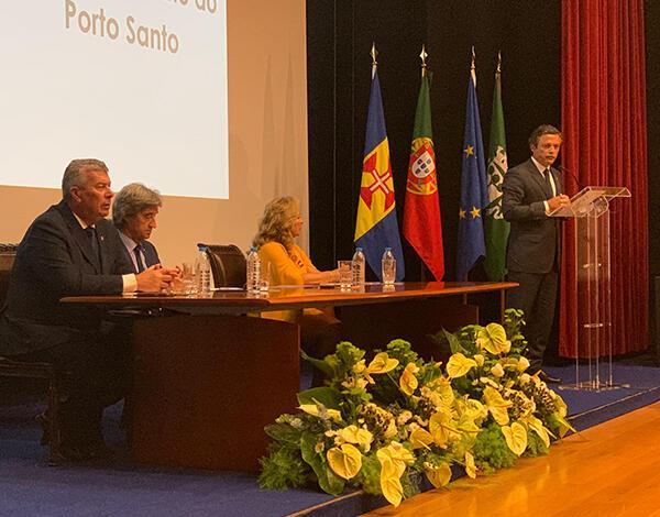 Vice-presidente felicita boa articulação com a Câmara Municipal do Porto Santo